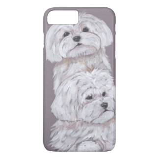 Two Maltese iPhone 7 Plus Case
