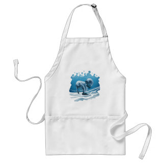 Two Manatees Adult Apron