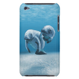 Two Manatees Swimming Barely There iPod Cover