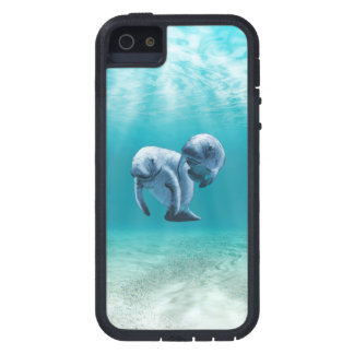 Two Manatees Swimming Case For iPhone SE/5/5s