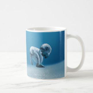 Two Manatees Swimming Coffee Mugs