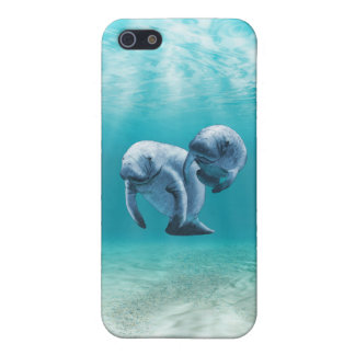 Two Manatees Swimming Cover For iPhone SE/5/5s