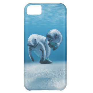Two Manatees Swimming iPhone 5C Case