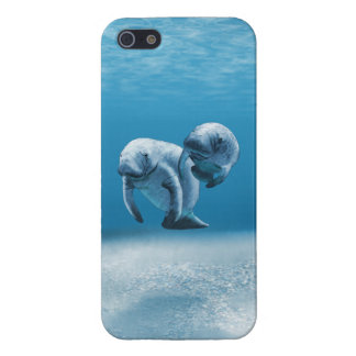 Two Manatees Swimming iPhone SE/5/5s Cover