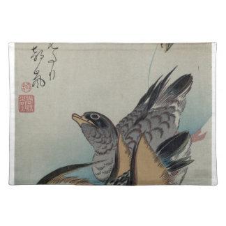 Two Mandarin Ducks by Hiroshige Placemat