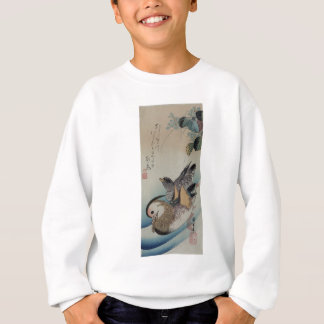 Two Mandarin Ducks by Hiroshige Sweatshirt