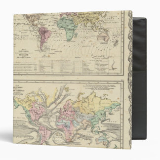 Two Maps of The World 3 Ring Binder