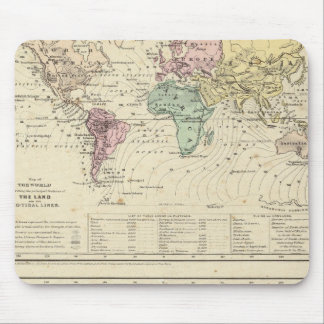 Two Maps of The World Mousepads