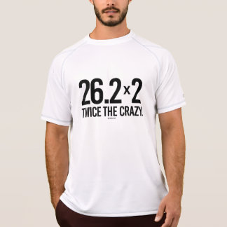 Two Marathons - Twice the Crazy -  .png T-Shirt