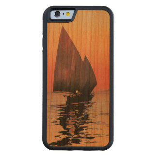 Two Masted Sailboat at Sunset Carved Cherry iPhone 6 Bumper Case