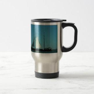Two masted sailing barge 15 oz stainless steel travel mug
