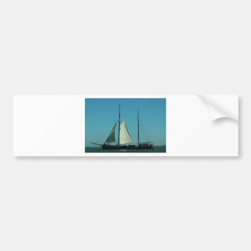 Two masted sailing barge bumper stickers