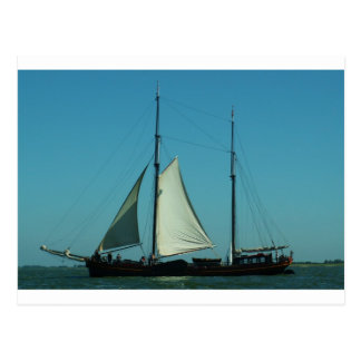 Two masted sailing barge postcard