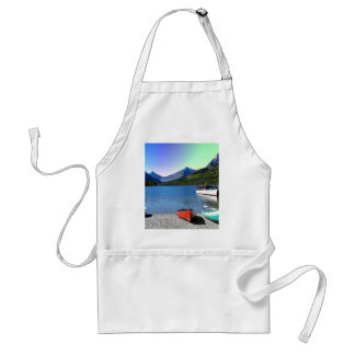 Two Medicine lake Glacier National Park Montana Adult Apron