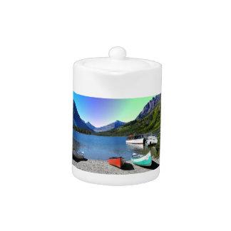 Two Medicine lake Glacier National Park Montana Teapot
