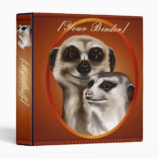 Two Meerkats Oval binder_1_front.v4 Vinyl Binders