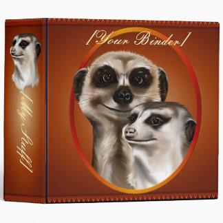 Two Meerkats Oval binder_2_front.v4 3 Ring Binders
