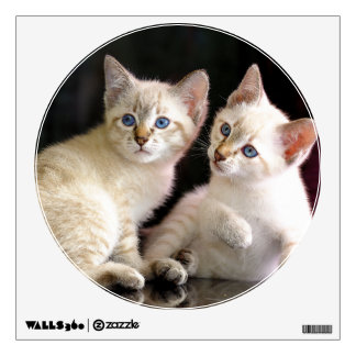 Two Mekong Bobtail Tabby Point Kittens Wall Decal