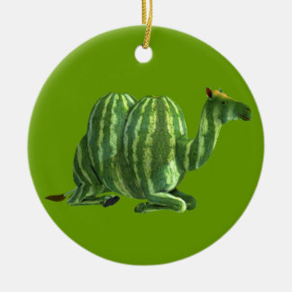 Two Melon Camels Christmas Ornament