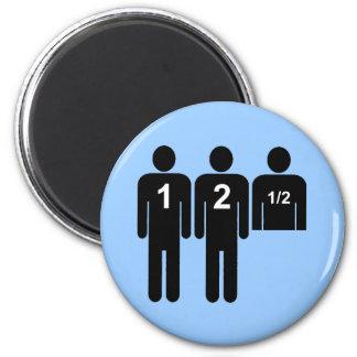 Two Men + 1/2 2 Inch Round Magnet