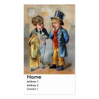 Two Men at Clothiers Business Card