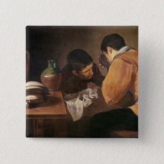 Two Men at Table, c.1620-21 Button
