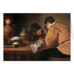 Two Men at Table, c.1620-21 Card