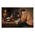 Two Men at Table, c.1620-21 Poster