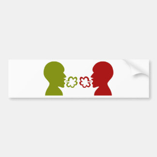 Two Men Breathing Icon Car Bumper Sticker