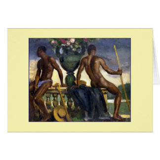Two Men by Ranken Stationery Note Card