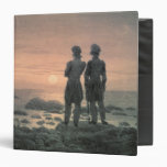 Two Men by The Sea 3 Ring Binders
