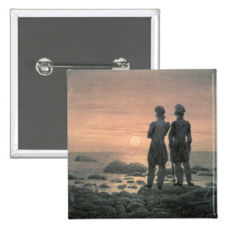 Two Men by The Sea Pinback Button