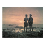Two Men by The Sea Postcards