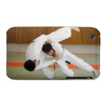 Two Men Competing in a Judo Match 2 iPhone 3 Case-Mate Case