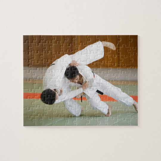 Two Men Competing in a Judo Match 2 Jigsaw Puzzle