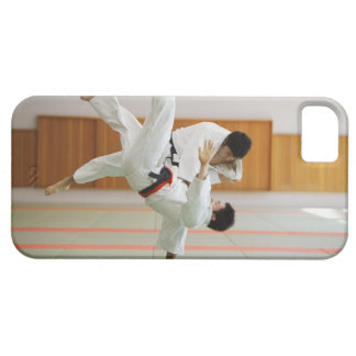 Two Men Competing in a Judo Match 3 iPhone 5 Case