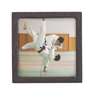 Two Men Competing in a Judo Match 3 Gift Box