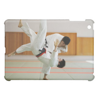 Two Men Competing in a Judo Match 3 iPad Mini Cover