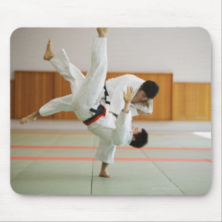 Two Men Competing in a Judo Match 3 Mouse Pad