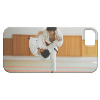 Two Men Competing in a Judo Match iPhone 5 Cases