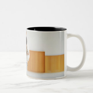 Two Men Competing in a Judo Match Two-Tone Coffee Mug