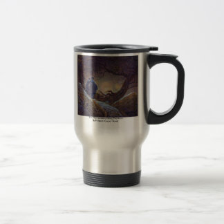 Two Men Contemplating The Moon By Friedrich Caspar 15 Oz Stainless Steel Travel Mug