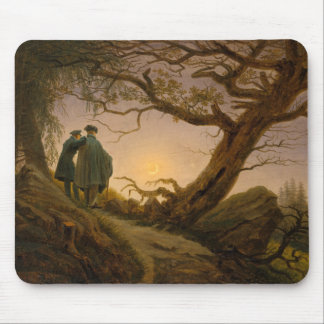 Two Men Contemplating the Moon - Friedrich Mousepad