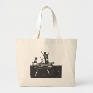 Two Men in a Boat Large Tote Bag