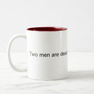 Two Men in a Cabin Two-Tone Coffee Mug