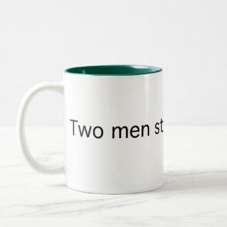 Two Men in Silence Two-Tone Coffee Mug