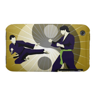 Two men performing martial arts in front of a iPhone 3 cases