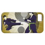 Two men performing martial arts in front of a iPhone 5 cases