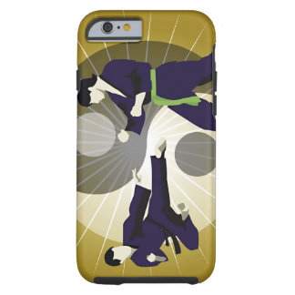 Two men performing martial arts in front of a tough iPhone 6 case