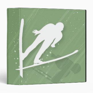 Two Men Ski Jumping 3 Ring Binders